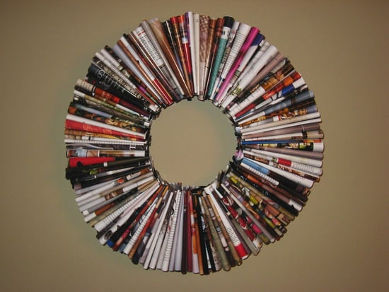 Deck the Haus: Recycled Magazine Wreath
