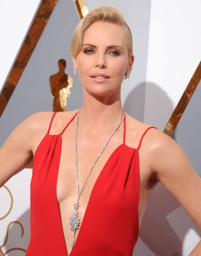 Charlize Theron's Harry Winston Necklace in 2016