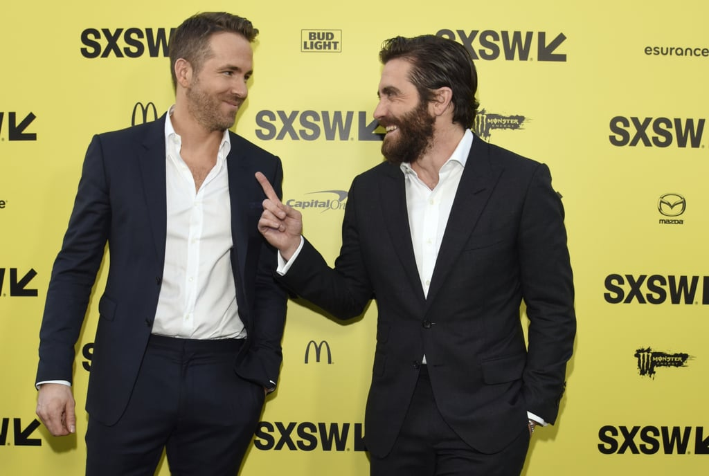 "Ryan Reynolds and Jake Gyllenhaal looked all sorts of gorgeous when they stepped out to promote their new film, Life, at the SXSW festival in Austin, TX, on Saturday. The two heartthrobs showed off their sexy smoulders and scruff as they struck their best poses for photographers. Ryan and Jake star alongside Ariyon Bakare, Olga Dihovichnaya, Rebecca Ferguson, and Hiroyuki Sanada in the sci-fi thriller, which tells the story of six astronauts on the International Space Station who discover the first living organism on Mars.  While the actors fight for their lives against each other in the movie, Ryan and Jake have developed quite the budding bromance. Back in January, Jake talked during a screening of Nocturnal Animals about how the Academy overlooked Ryan. ""I look at Ryan Reynolds in Deadpool and I say, 'No one can do that but him. That is truly, purely him.' As an artist, he struggled for several years to figure that out, and it's all there on the screen. And it's brilliant,"" he said. We're definitely looking forward to seeing more of these two in the weeks to come."