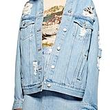 Topshop Ripped Denim Jacket