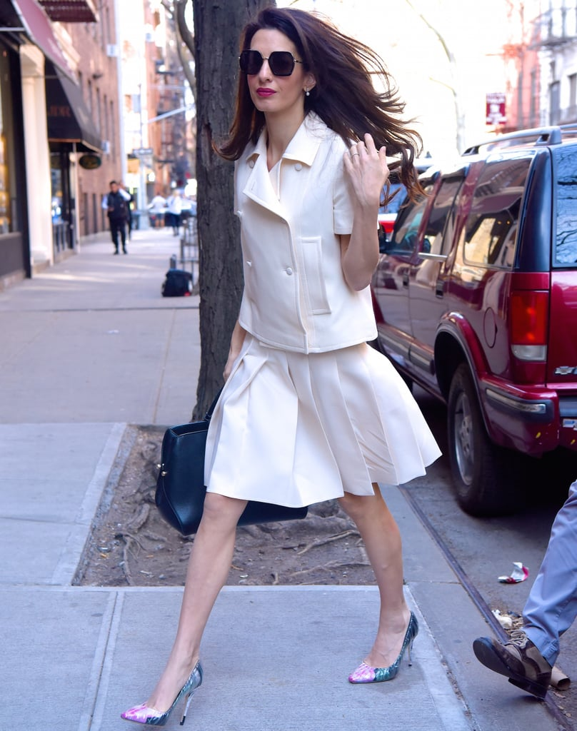 Amal Clooney Jimmy Choo x Off-White Heels