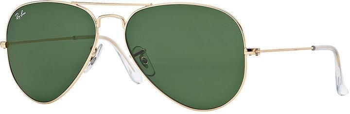 Ray-Ban Original Aviator Sunglasses, Golden/Green ($150)