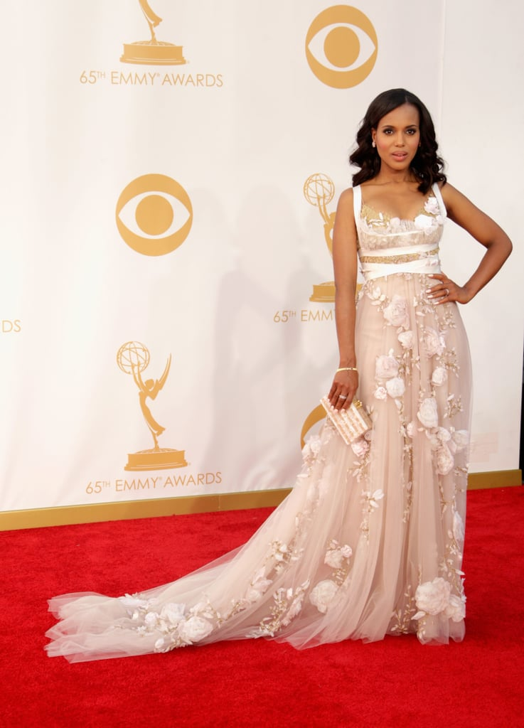 Kerry Washington Wore All the Fabrics at the 2013 Emmys