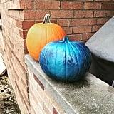 Teal Tie Dye Pumpkin