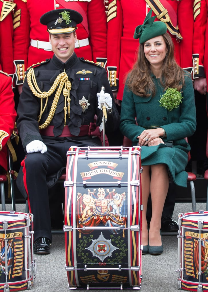 Prince William and Kate Middleton attended the St. Patrick's Day parade in Aldershot, England.