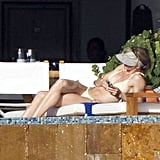 Cameron Diaz Lounges in Her Bikini With A Rod in Mexico