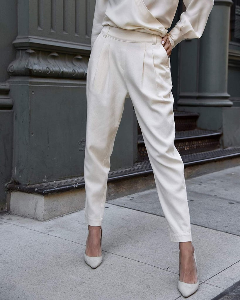 The Drop Women's Ecru Double Pleated High-Waist Pull-On Pant by @lisadnyc