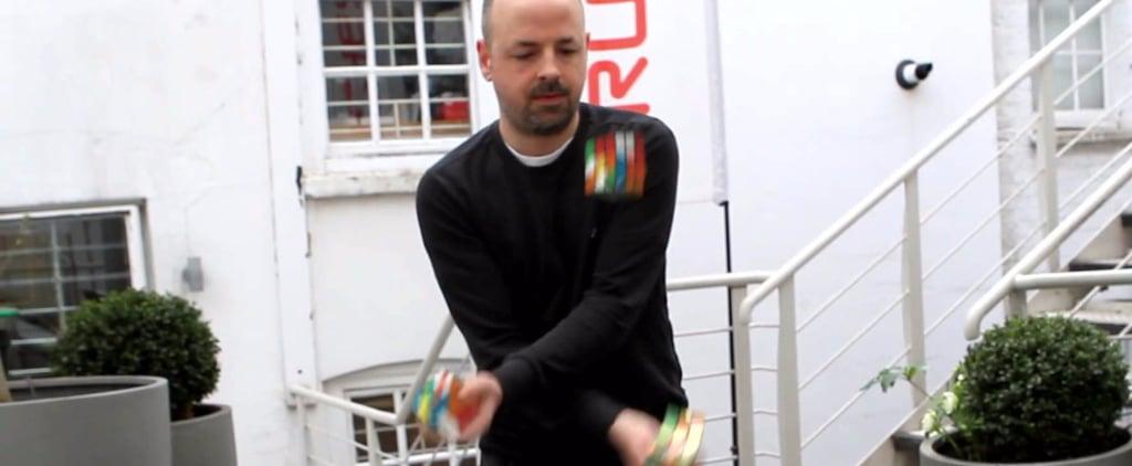 Man Juggles While Solving Rubik's Cube