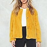 Nasty Gal Crop It Down Low Faux Fur Jacket