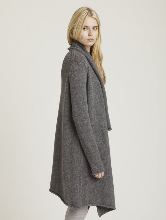 Pair Inhabit's Chainette coat ($269, originally $898) with leather leggings for an extra cozy effect.