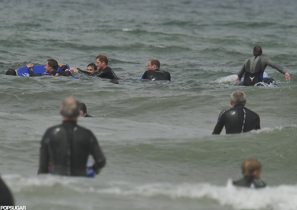 Prince William and Prince Harry had a day at the beach in the English town of Cornwall.