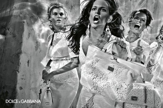 Photos of Alessandra Ambrosio, Izabel Goulart, Maryna Linchuk, and Isabeli Fontana in Dolce & Gabbana Spring 2011 Ad Campaign