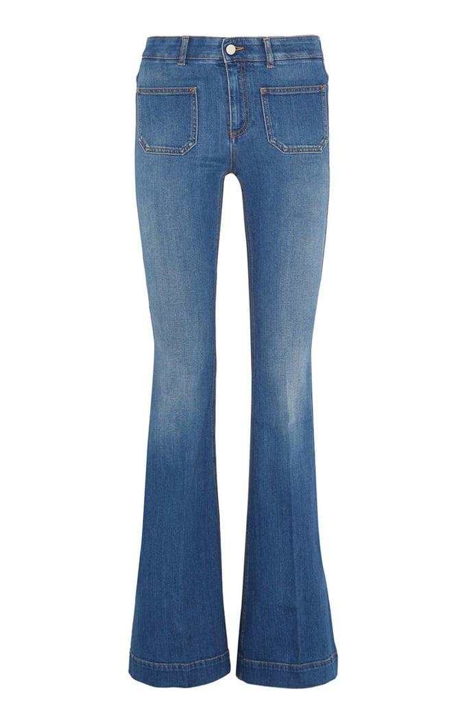 Stella McCartney High-Rise Flared Jeans in Mid — Denim ($395)