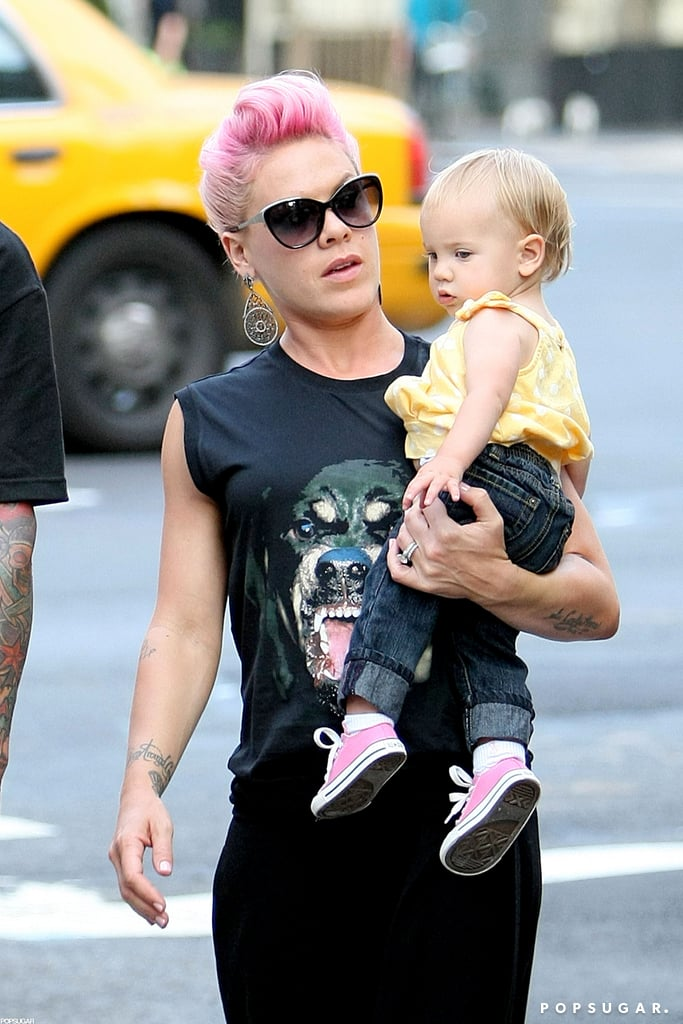 Pink carried Willow in NYC.