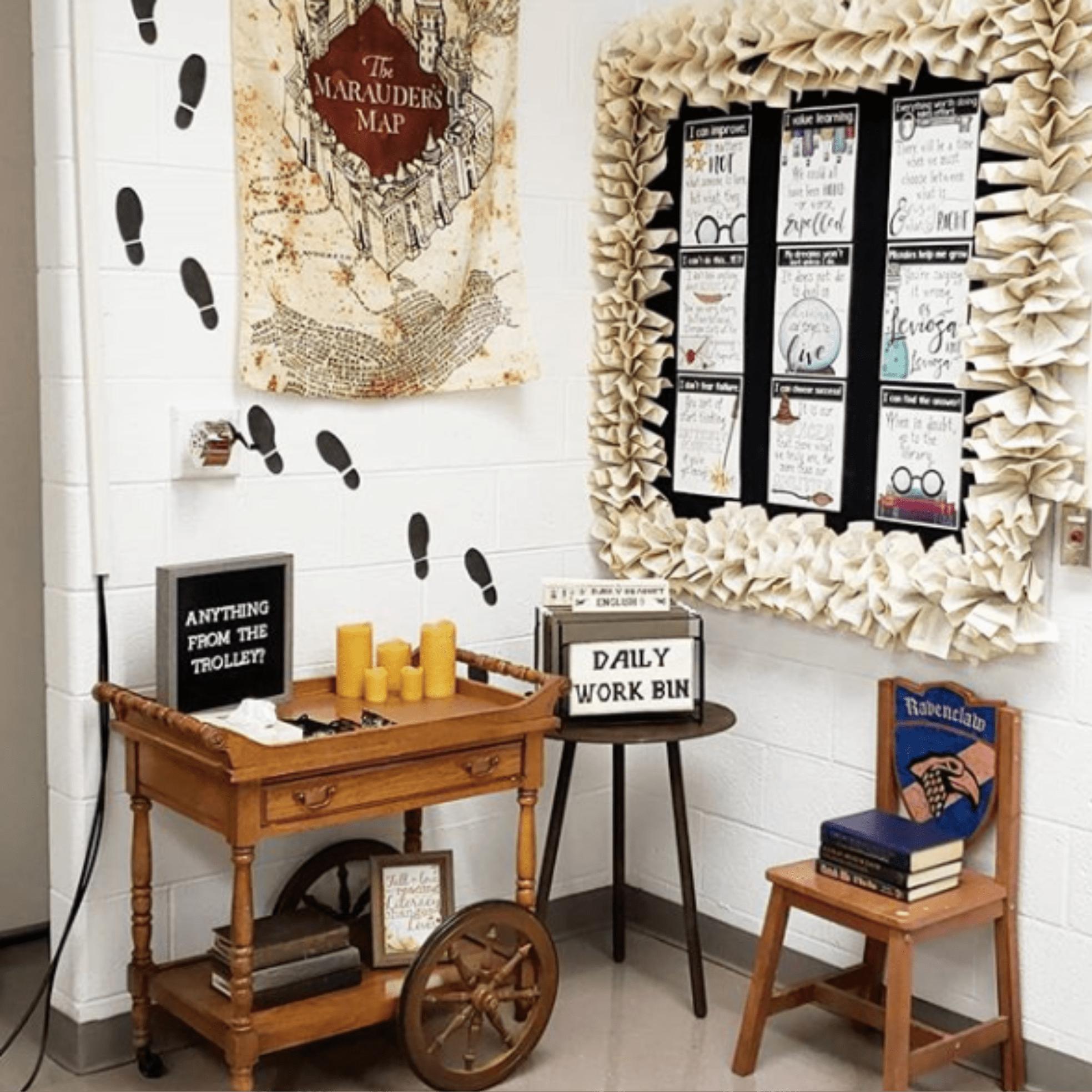 High School Teacher Decorates Classroom Like Harry Potter