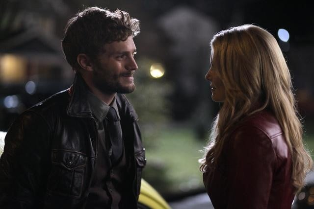 Jamie Dornan and Jennifer Morrison on ABC's Once Upon a Time.