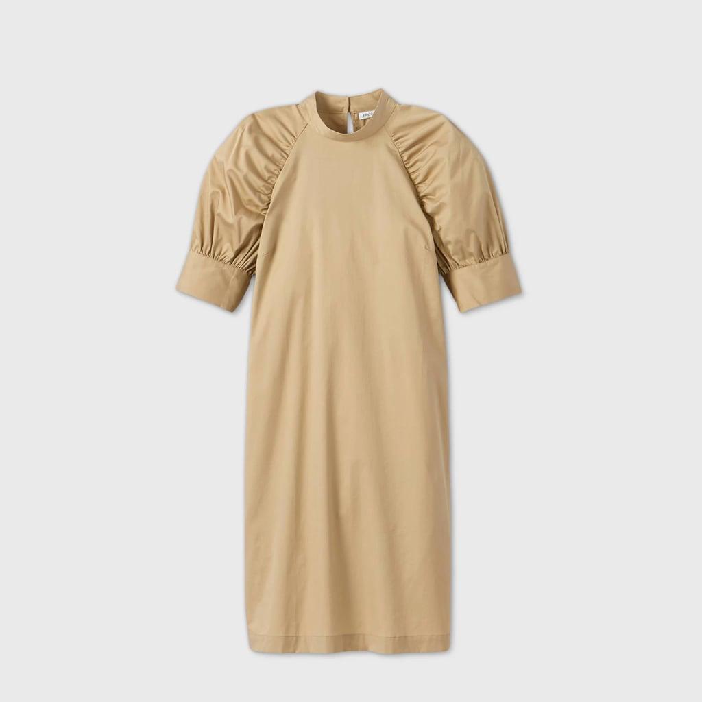 Puff Elbow Sleeve Dress