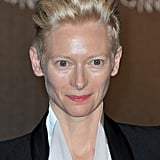 Tilda Swinton posed at the opening dinner of the Cannes Film Festival.