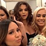 Selena Gomez's Black Bridesmaid Dress