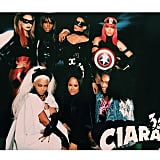 Kelly Rowland, Ciara, La La Anthony, Serena Williams, Beyoncé, and Friends as Superheroes