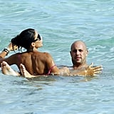 Pictures of Pepe Reina and David Villa Shirtless on Holiday in Ibiza With Families