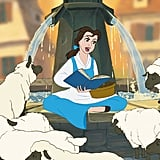 The strand of hair that always falls into Belle's face was meant to show she wasn't perfect.