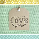 Typographic Gift Tags