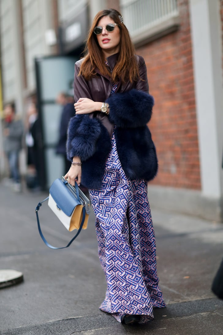 Mfw Street Style Day Two Best Street Style Milan Fashion Week Fall 2014 Popsugar Fashion