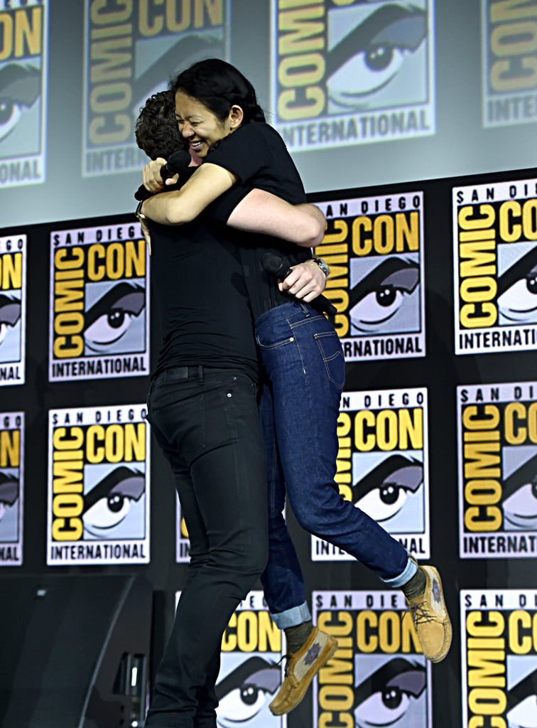 Pictured: Richard Madden and Chloé Zhao at San Diego Comic-Con.