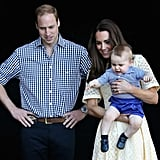 Prince George at Taronga Zoo in Sydney, Australia, in April 2014
