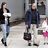 Katie Holmes followed closely behind Suri Cruise.