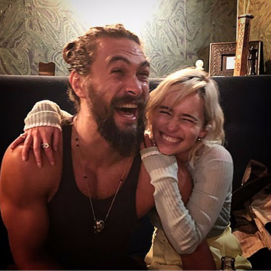 Emilia Clarke and Jason Momoa Instagram Photo November 2017