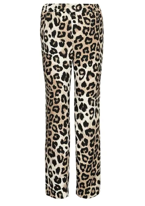 Pull-On Leopard Print Ankle Pant