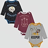 Baby Harry Potter 3pk Long Sleeve Bodysuits