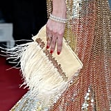 Olivia Palermo carried a funky feathered bag.