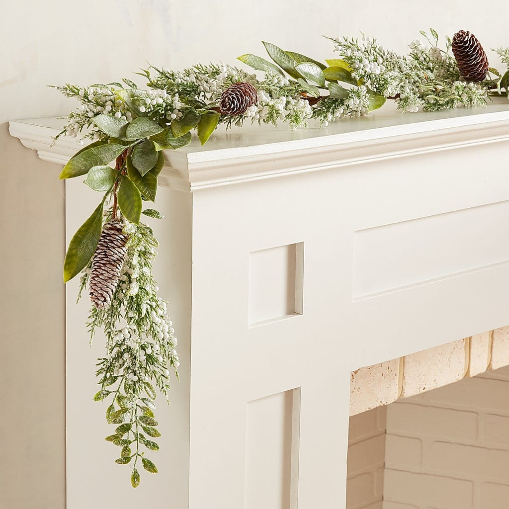 Snowy Faux Cedar and Pinecone Garland