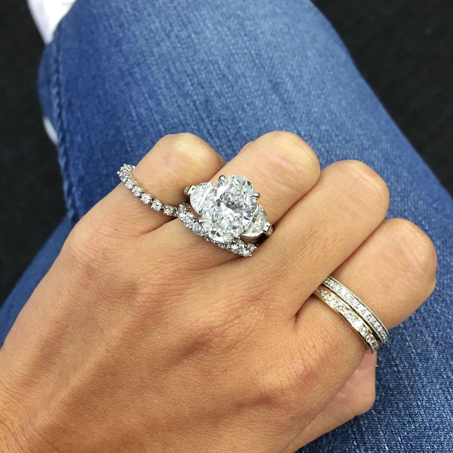 Big Engagement Ring Inspiration POPSUGAR Love Sex