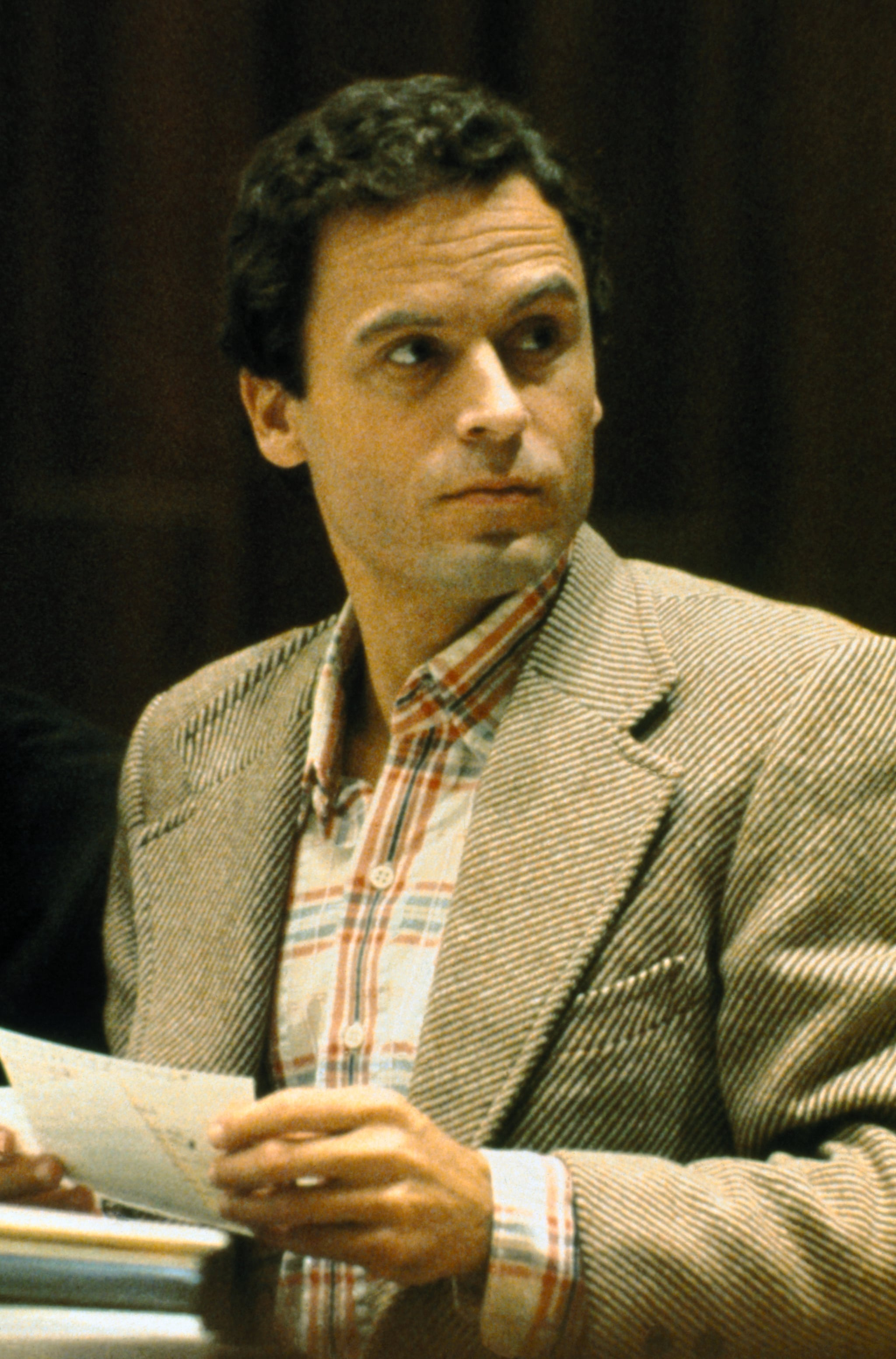 (Original Caption) Close up of Theodore Bundy, convicted Florida murderer, charged with other killings.