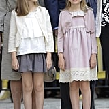 Princess Leonor and Infanta Sofía in 2015