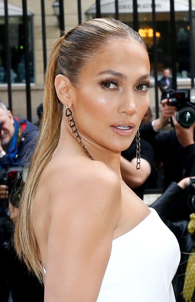 Jennifer Lopez Celebrities With Wet Look Hairstyles