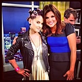 "Kelly Osbourne ""fanned out"" when she met her teenage idol Tiffani Thiessen. Source: Instagram user kellyosbourne"