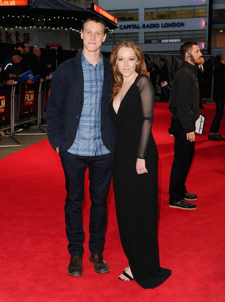 George Mackay And Charlotte Spencer The 2014 Bfi London