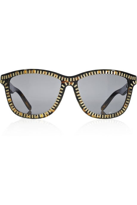 Alexander Wang Zip Sunglasses ($390)