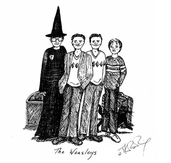 J.K. Rowling's Harry Potter Sketches From Pottermore