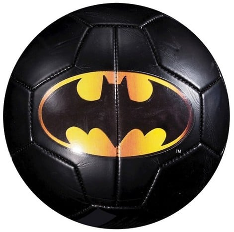 For 6-Year-Olds: Franklin Sports Batman Soccer Ball with Pump (Size 3)