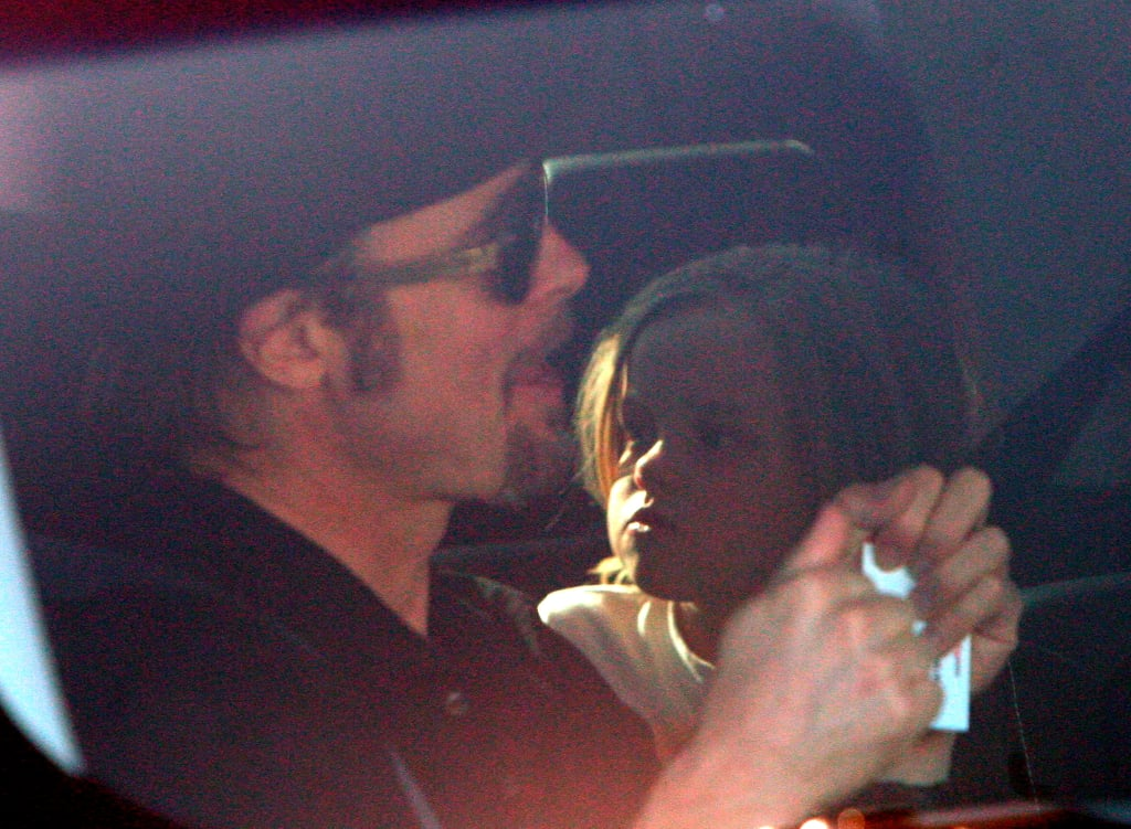 Brad Hops to the Theater With the Jolie-Pitt Kids!