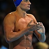 Ryan looked sexy prior to swimming at the 2012 Olympic trials.