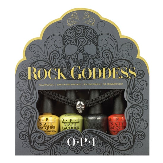 This year, OPI is celebrating Rock Goddess Mini Lacquer Set ($13). It comes with four bold shades that can be mixed and matched to create a custom look, and don't forget to finish it off with the skull bracelet.