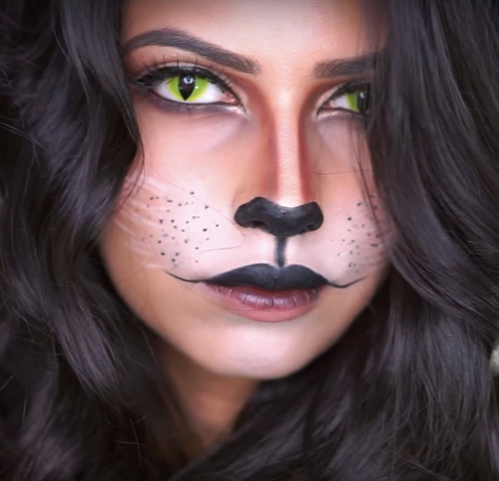cat halloween makeup | popsugar beauty