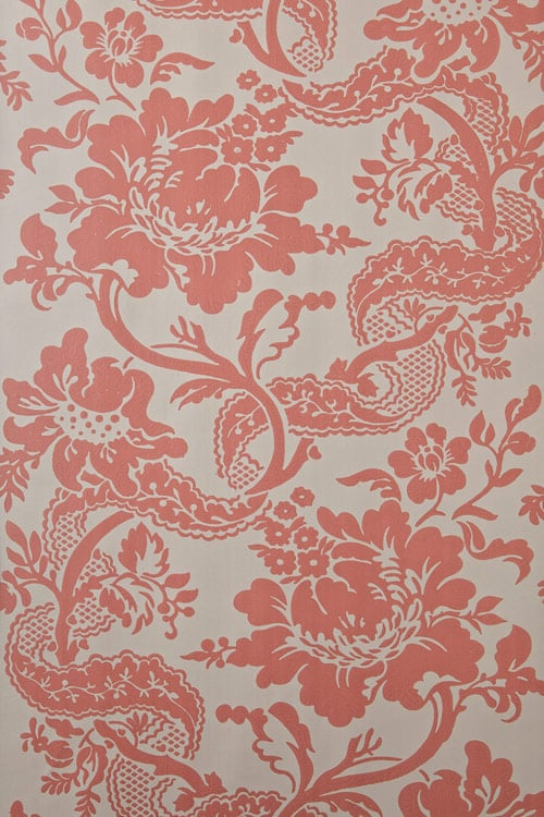 Named Versailles, this floral wallpaper ($295 per roll) is pretty and feminine.